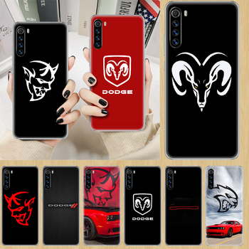 Logo Sport Car brand Dodge Phone Case cover For XIAOMI Redmi Note 3 4 4X 5 6 7 8 9 Pro T S max transparent cell cover 3D funda image