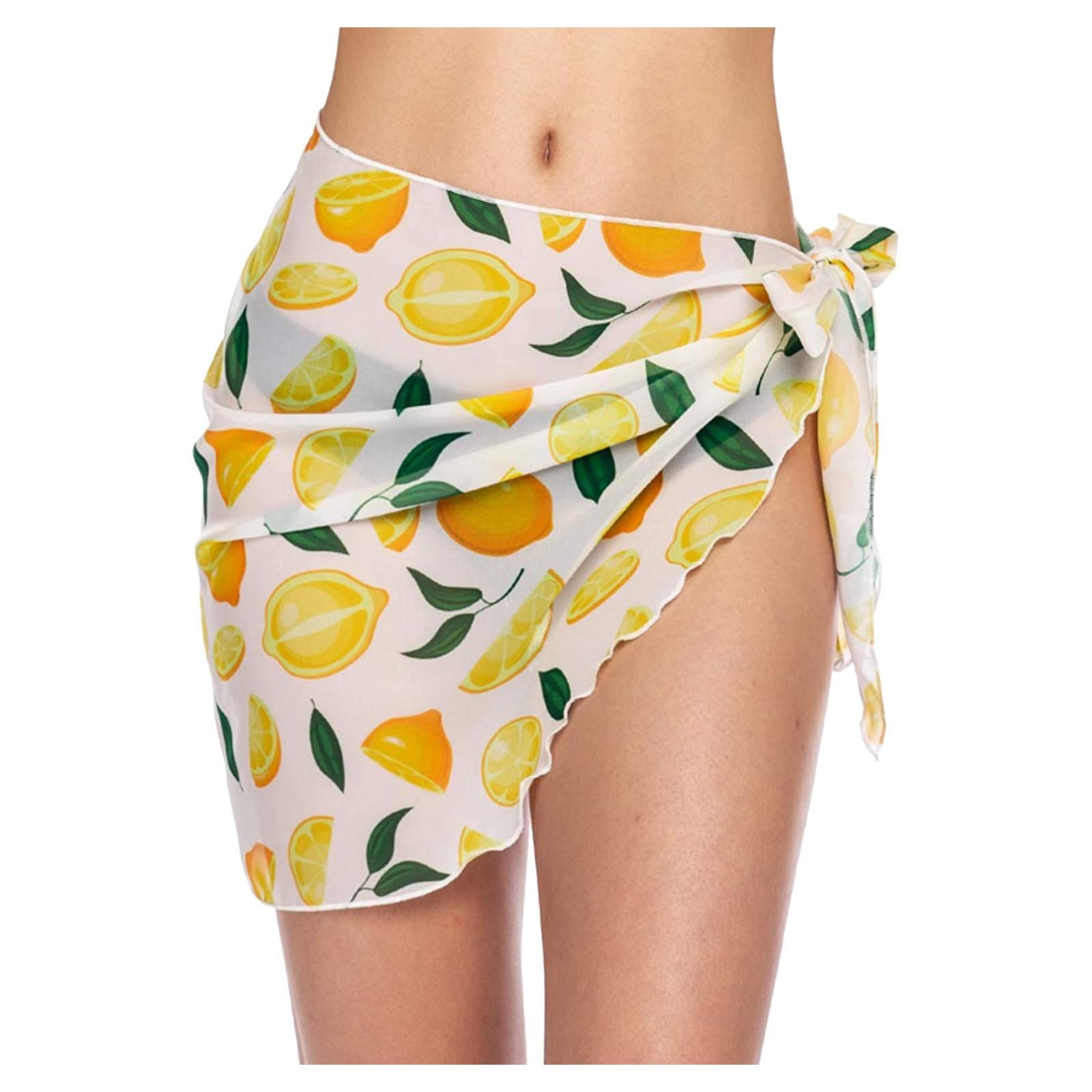 Women Short Sarongs Beach Wrap Sheer Bikini Wraps Chiffon Cover Ups for Swimwear 3
