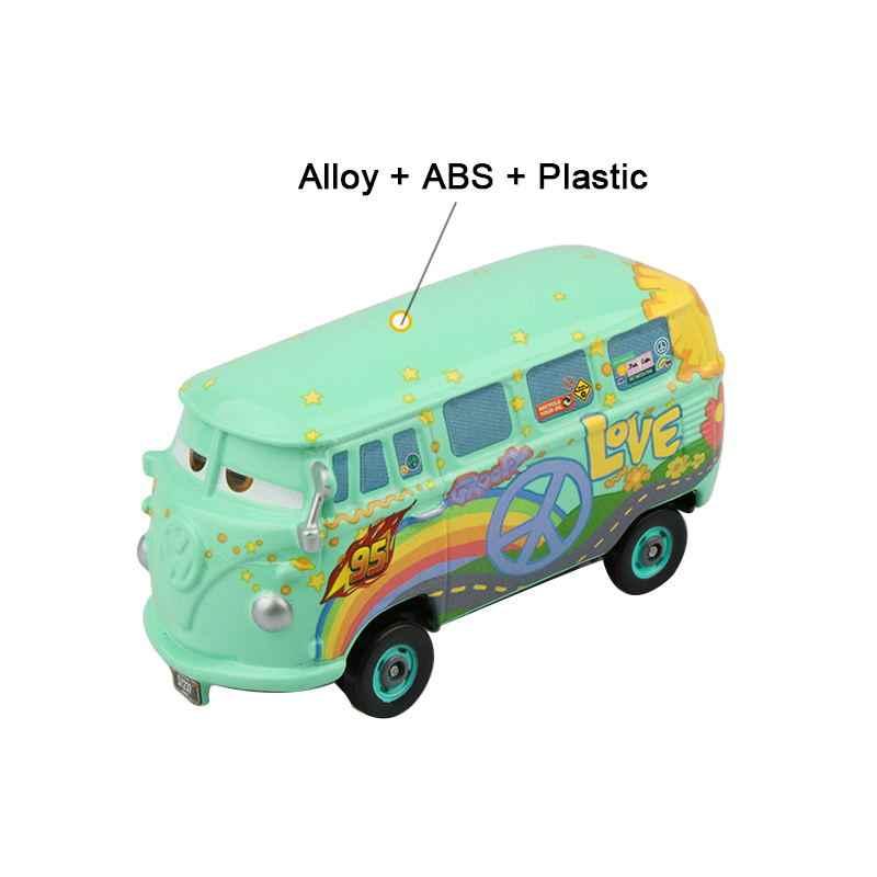 Samochody disney pixar 2 3 zygzak mcqueen Mater Jackson Storm Ramirez 1:55 Diecast pojazd stop metali chłopiec zabawki dla dzieci prezent na boże narodzenie