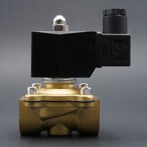 """Image 4 - الملف اللولبي صمام المياه عادة إغلاق صمامات النحاس 220V12V24V الهواء صمام الملف اللولبي الغاز المياه 1/4 """"3/8"""" 1/2 """"3/4"""" 1 """"2"""""""
