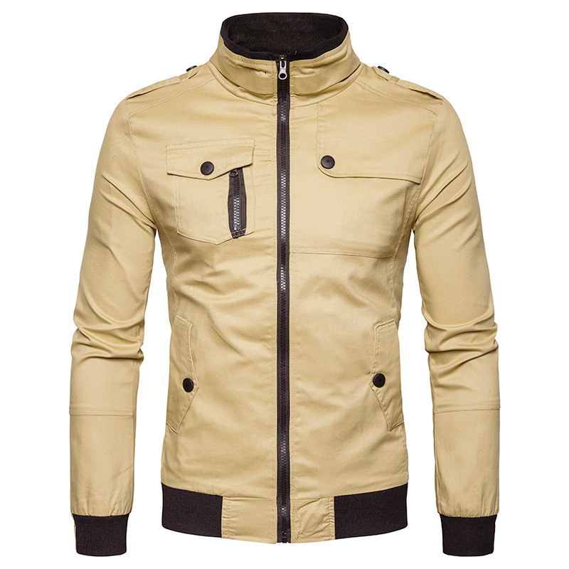 Men Military Pilot Jackets Bomber Cotton Coat Tactical Army Jacket Male Casual Air Force Flight Jacket Stand Zip Spring Autumn
