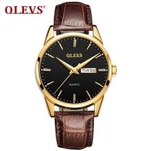 Relógios masculinos olevs marca superior de luxo moda relógio de quartzo de couro para masculino data automática luminosa mãos relogio masculino