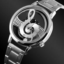 Luxury Fashion Women Watches Music Note Notation Watch Stainless Steel Quartz Watch Ladies Watches dames horloge montres femme цены онлайн