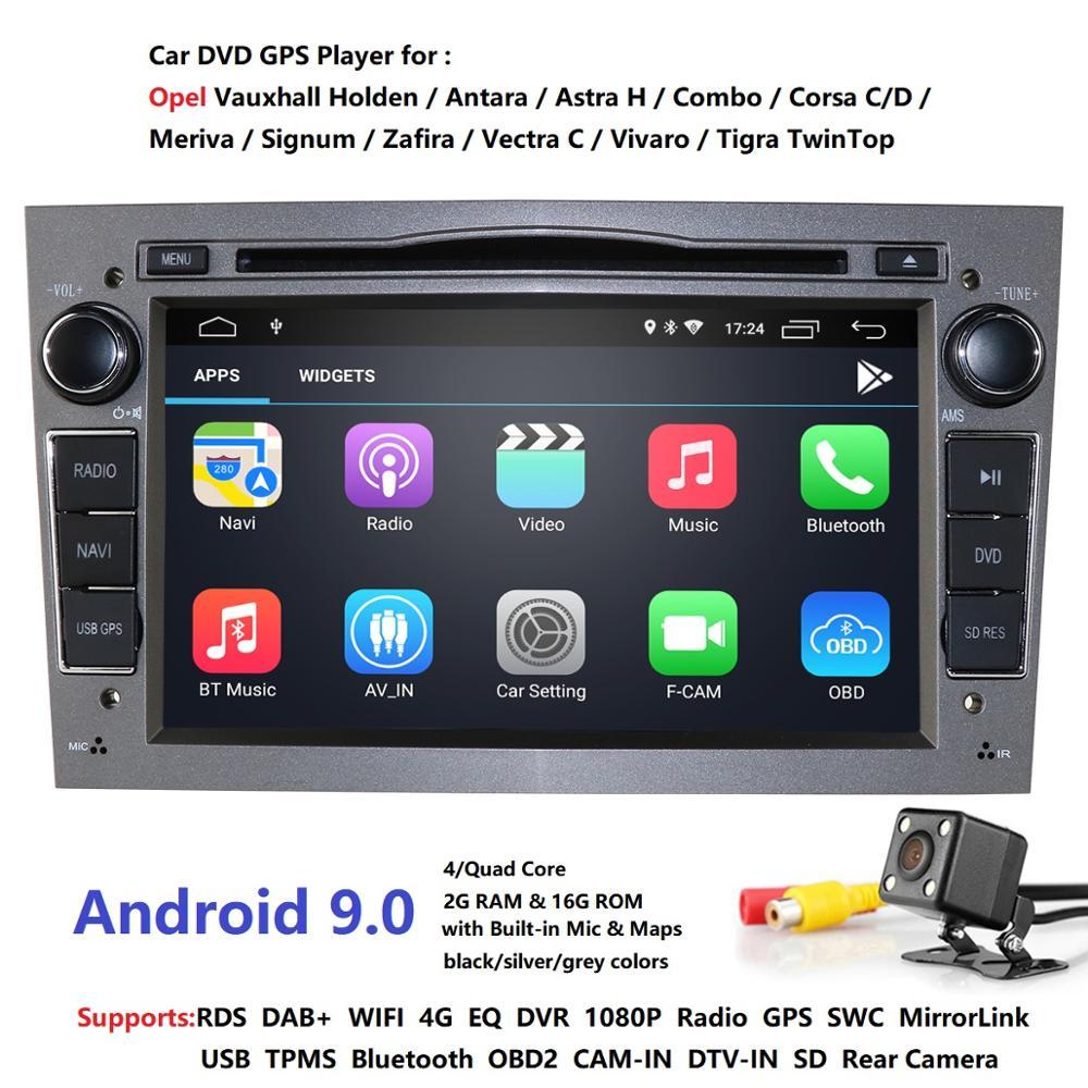 2G RAM Android 9.0 DVD de voiture pour Opel Vectra Antara Zefira Corsa Meriva Astra 4Core Radio GPS lecteur multimédia DVR SWC DTV DSP 4G