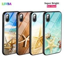Black Silicone Case Starfish Ocean Sunset for iPhone X XR XS Max for iPhone 8 7 6 6S Plus 5S 5 SE Super Bright Glossy Phone Case black cover japanese samurai for iphone x xr xs max for iphone 8 7 6 6s plus 5s 5 se super bright glossy phone case