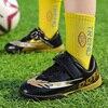 Boys Football Shoes Kids Sneakers Soft Wear Resistant Sport Fashion Trend Velcro Children Soccer Footwear Size 29-39