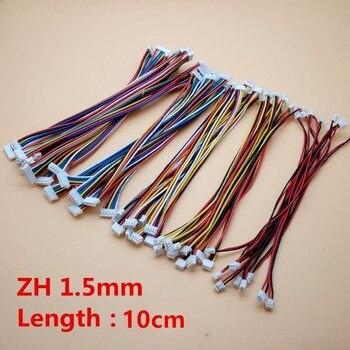 Conector doble hembra y hembra ZH1.5 ZH, 1,5 MM, 2P/3P/4P/5P/6/8 Pin, longitud de cable de 100MM, 1007, 28 AWG, 10 Uds. 1