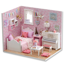 Doll House Furniture Diy Miniature 3D Wooden Dollhouse Toys For Children Birthday Gifts