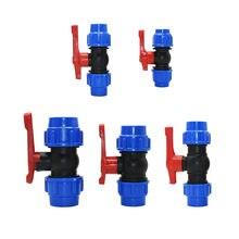 20/25/32/40/50/63mm plástico tubulação de água conector rápido válvula de esfera pe tubo reparação jardim torneira acessórios