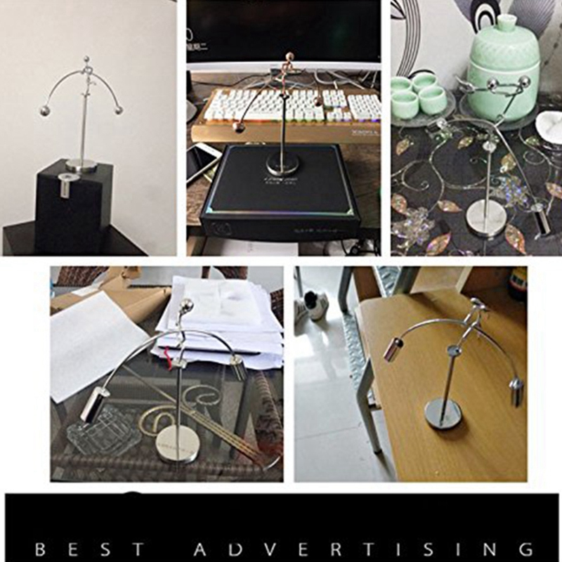 Finger Balancing Toy, Dynamic Balancing Instrument,Newton'S Cradle Weightlifter Mold Metal Craft Perpetual Art Swing Kinetic Mot enlarge