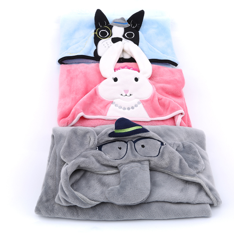 Hot Sale Baby Blanket Cute Cartoon Animal In Corner Baby Flannel Blankets Newborn Autumn Winter Keep Warm Quilt Carpet