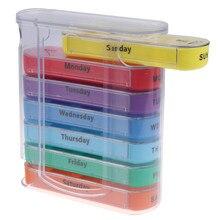 Casa de viagem semanal 7 dias pílula caixa 28 compartimentos pílula organizador plástico medicina armazenamento dispensador cortador casos drogas
