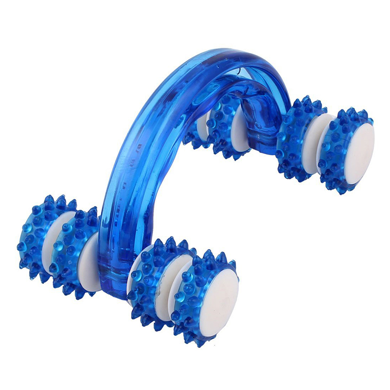 Hand-held Body Cellulite Control Health Beauty Roller Massager Blue