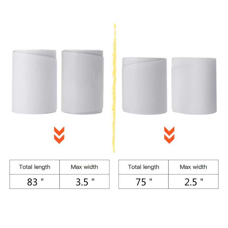 ACAMPTAR 2PCS 75Inch White Board Tape Surf Board Tape Surfboard Rail Protective Film Paddle Board Accessories Transparent
