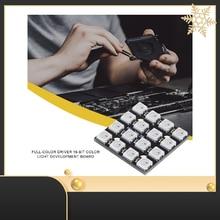 Light-Board WS2812B Panel-Module RGB LED Lamp Driver 16-Bit Color-Light Square Full-Color