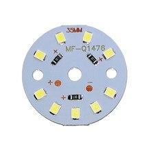 Chip de fonte led, 5 peças um lote dc12v 3w 6w 9w 12w 15w 18w lâmpada led de alta potência smd2835, holofote luz para baixo