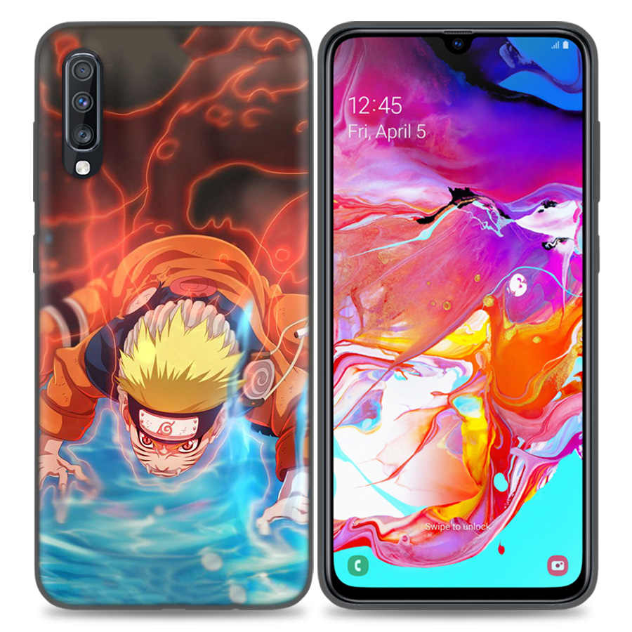 Silikon kutu örtüsü Samsung Galaxy A50 A80 A60 A70 A60 A40 A30 A20 A20e A10 A8 A7 A6 2018 Not 8 9 10 artı 5G Uzumaki Naruto