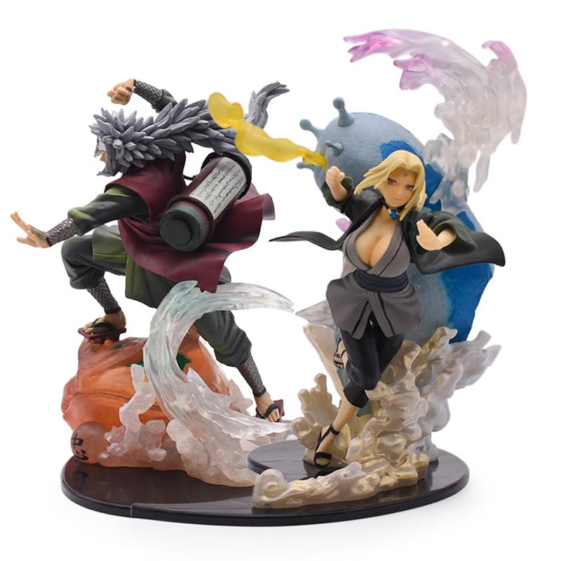 19-22Cm Anime Naruto Figuur Cartoon Senjiyu Tsunade Jiraiya Battle Pvc Action Figurine Model Standbeeld Collectible Speelgoed Poppen geschenken