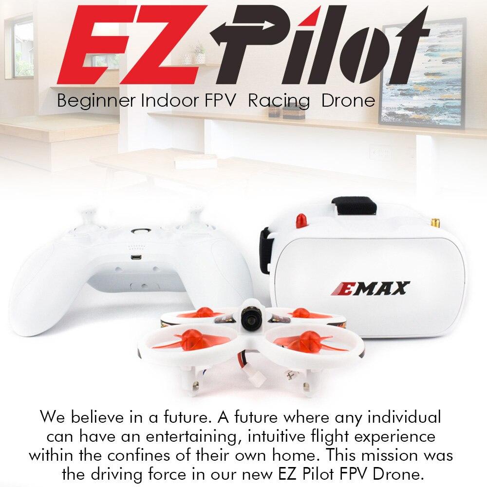 EMAX EZ Pilot 82MM Mini 5.8G intérieur FPV course Drone avec caméra lunettes RC Drone 2 ~ 3S RTF Version pour débutant - 2