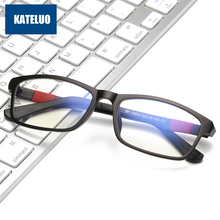 KATELUO 2020 Anti Blue Light Glasses Tungsten Computer Glasses Anti Fatigue Radiation resistant Glasses Eyeglasses Frame 13022