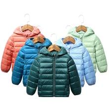 Children Clothing Jacket Coat Outerwear Hooded Boys Snowsuit Down Ultra-Light Baby-Girls