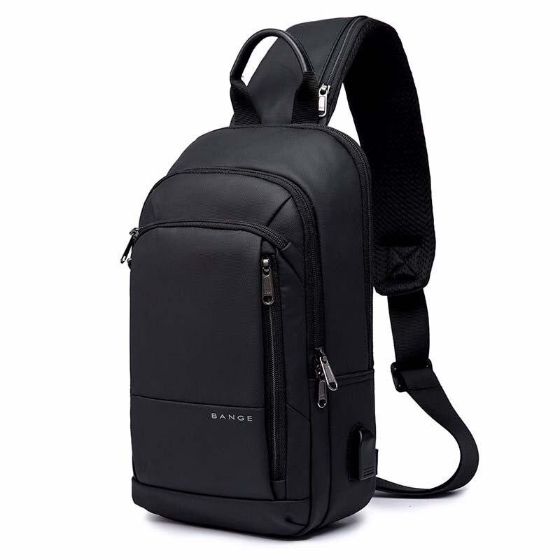 Multifunction Crossbody Bag for Men Anti-theft Shoulder Messenger Bags Male Waterproof USB Charging Short Trip Chest Bag Pack