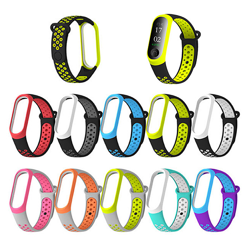 New 10 Styles Wrist Strap For Xiaomi Mi Band 3 Double Color TPU Watch Replacement For Miband 3 Strap Smart Bracelet Accessories