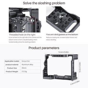 Image 5 - UURig C A73 소니 A7III A7R3 A7M3 용 메탈 카메라 케이지 리그 탑 핸들 그립이있는 콜드 슈 마운트 Arca 스타일 퀵 릴리스 마운트