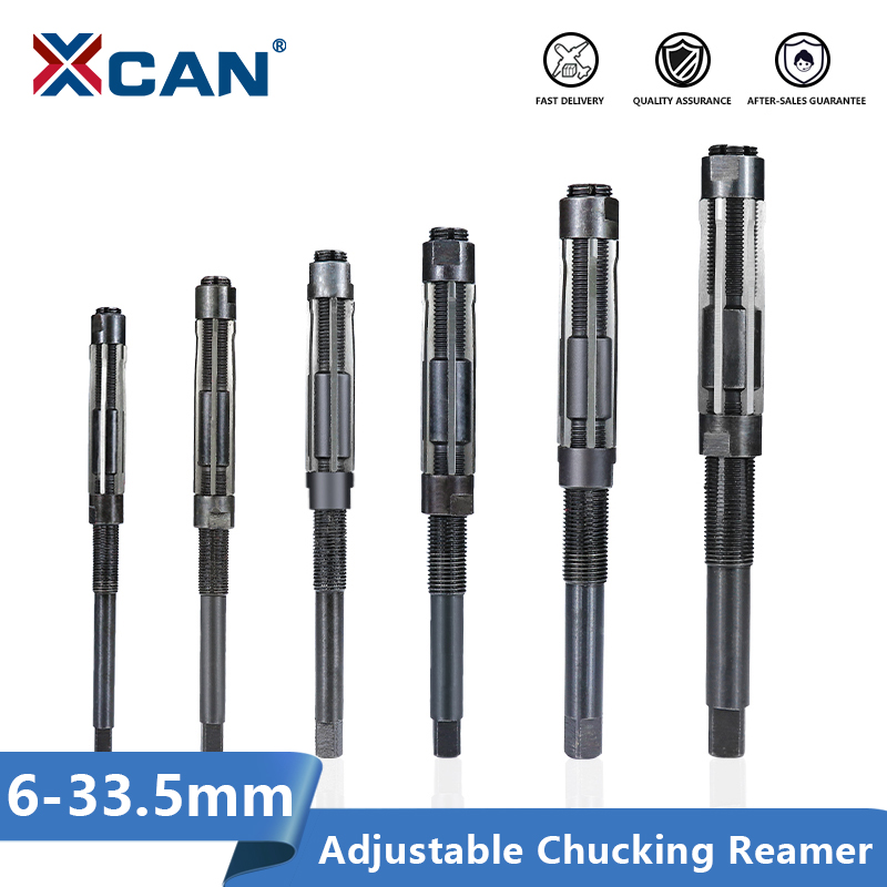 XCAN Adjustable Hand Reamer Machine Cutting Tools 6 7 8 9 10 11 12 13 15 17 19 21 23 26 29 30mm