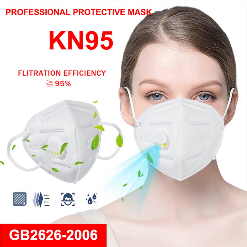 10Pcs KN95 Face Mask Anti Dust Bacterial KN95 Mask 4-Layer PM2.5 Dustproof Protective 95% Filtration KN95 Mouth Muffle Cover