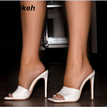 цена на Aneikeh Fashion Gladiator Sandals Women Shoes Peep Toe Thin Heels High Heels slippers Sandals Summer Party Wedding Dress Shoes