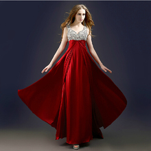 party evening gown beading vestido de renda 2018 v-neck women Formal long elegant free shipping