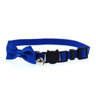 猫の首輪ポリエステルネックレスキティネックリング離脱猫首輪弓子猫首輪ペットアクセサリー犬ボウタイ首輪