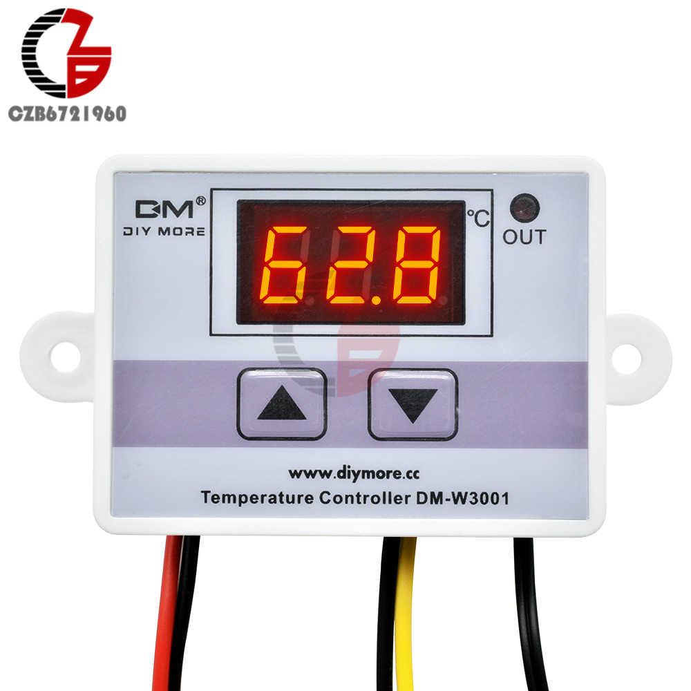 W3001 110V 220V 12V 24V Digital Suhu Controller Thermostat Thermoscope Akuarium Incubator Pemanas Air Temp Regulator