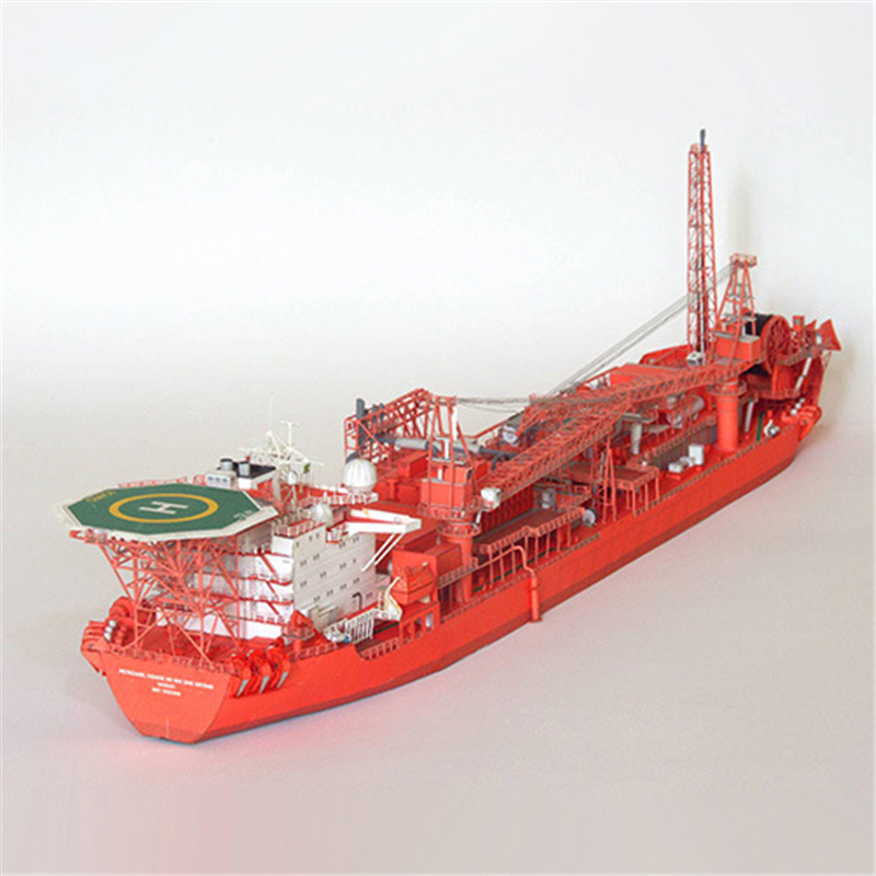 Paper FPSO Tanker ship Model Toys Handmade DIY creative show props tide Collection Military Toys Gift image