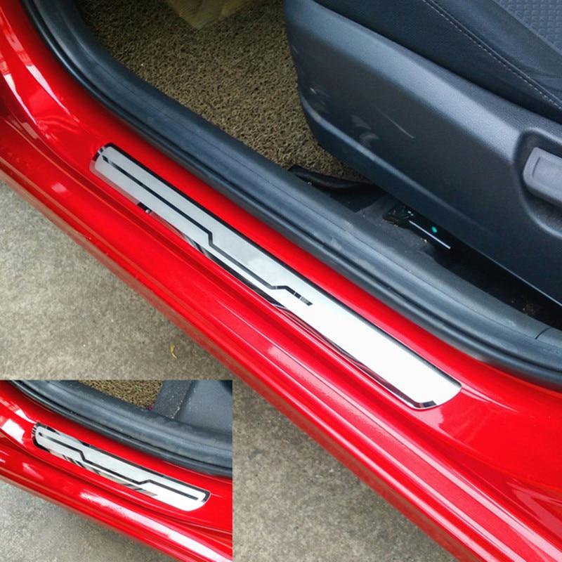 Pour LADA VESTA Cross Concept 2015-2019 garniture de seuil de porte de voiture couvre les seuils de porte en acier inoxydable plaque de seuil VESTA