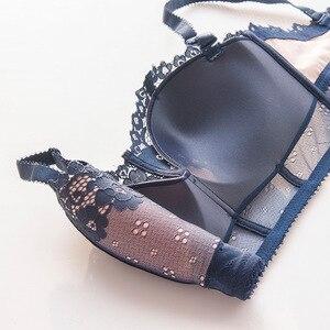Image 5 - Roseheart New Women Fashion Sexy Lingerie Lace Adjustable Straps Bralette Wireless Cotton Panties Push Up Underwear Bra Set