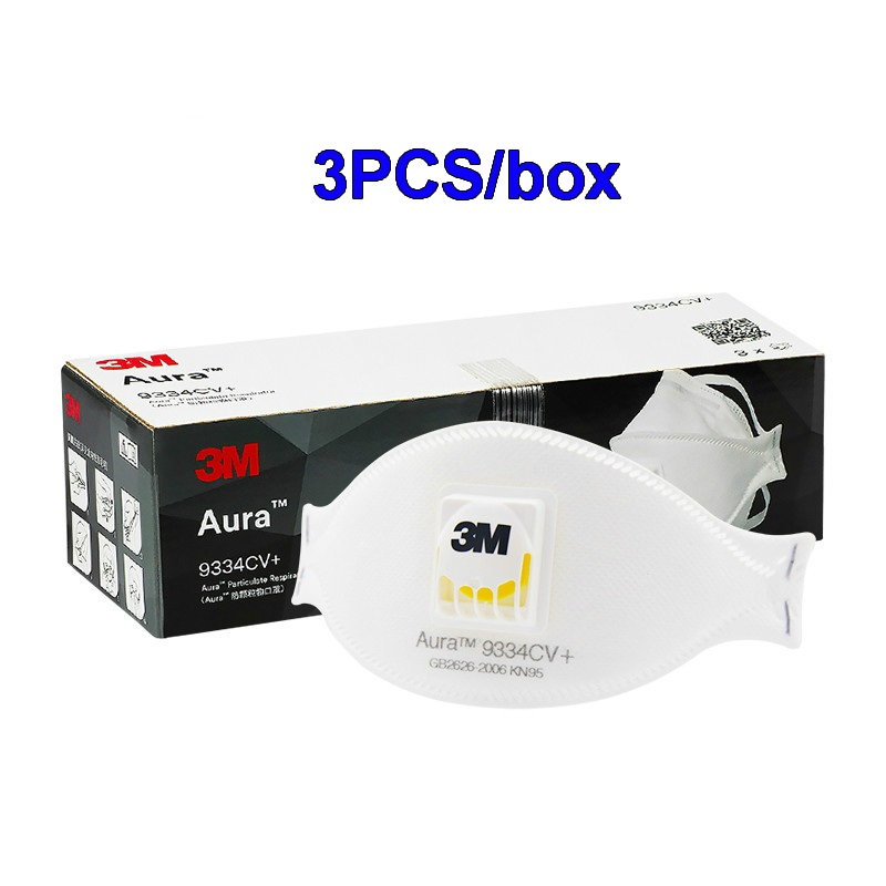 3pcs 3M 9334 FFP3 Gas Mask Anti-PM2.5 Filter Oily Non-oily Particulates Safety Respirator Protective Mask Haze Weather