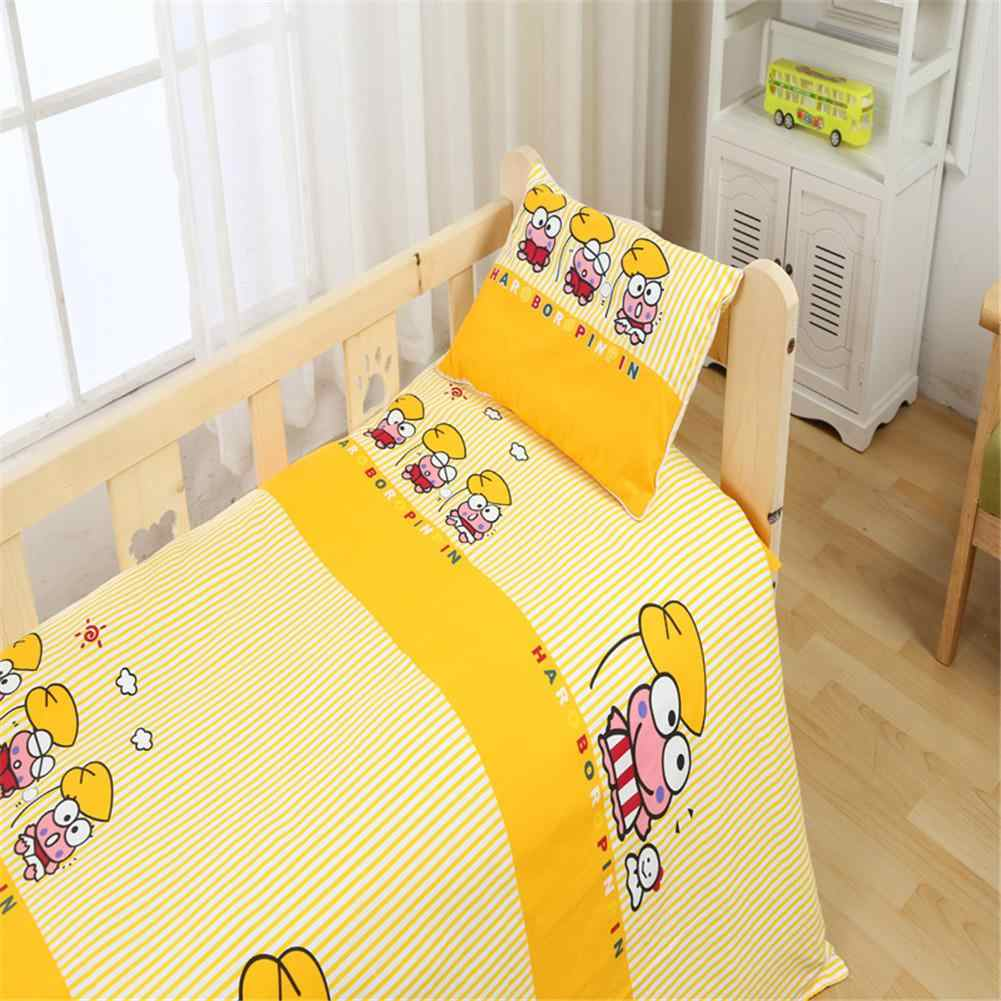 Kidlove 3Pcs Cotton Soft Crib Bed Linen Kit Cartoon Pattern Baby Bedding Set Without Filler