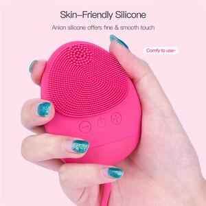 Image 1 - Siliconen Elektrische Facial Cleaner Borstel Ultrasone Diepe Reiniging Mee eter Verwijderen Oplaadbare Wassen Gezicht Stimulator Machine 46