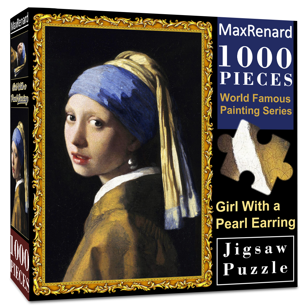 MaxRenard Jigsaw Puzzles 1000 Pieces 50*70cm The Kiss Wooden Assembling Painting World Masterpiece Puzzles Toys for Adults Games 15