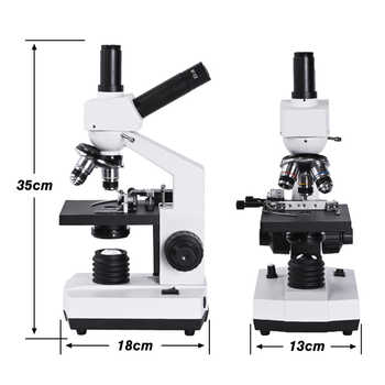 HD complex Binocular microscope 1600X Professional biological Lab +7-inch LCD +VGA HDMI digital Camera + USB electronic eyepiece