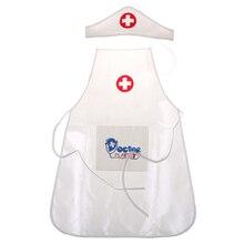 Горячая Новинка 1 одежда 1 шляпа ролевые игры игрушка набор медицинская одежда игрушки дети играть роль доктора комплект для медсестры для детей игрушка для девочек