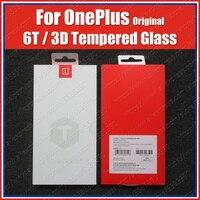 Oneplus 6 t original 3d temperado filme protetor de tela de vidro