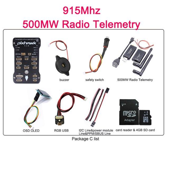 Pixhawk 2.4.8 + M8N GPS + 500mW Telemetry