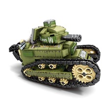 WW2 368PCS Renault FT17 Tank Military Building Blocks compatible legoingly Army Soldier Weapon figures Bricks Toys for Children