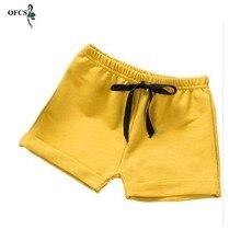 Children Shorts Baby-Girls-Boys Cotton Beach Summer Casual Sport Solid 2-10T Wholesale