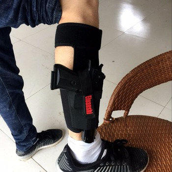 Concealed Carry Ankle Leg Holster For Glock 17 19 22 23 Ruger Lcp Sig 9mm Gun Pistol Tactical Pouch Black Color ELUANSHI 4