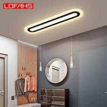 LOFAHS Modern Led Ceiling Lights For Bedroom Kitchen aisle Ceiling Lights Plexiglass Long Strip Ceiling lamp lighting fixtures