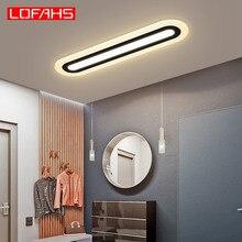 Lofأضواء سقف ليد حديث لغرفة النوم المطبخ الممر أضواء السقف شبكي طويل قطاع مصباح السقف تركيبات الإضاءة